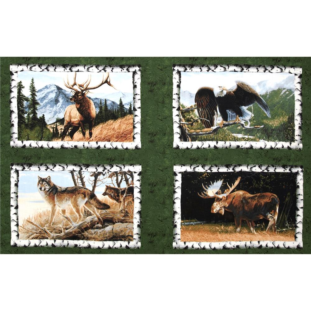 Northwoods Wildlife Panel Green