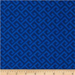 Greek Key Tonal Blue