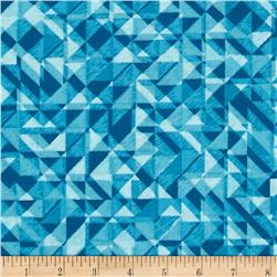108 In. Quilt Wide Back Prisms Turquoise