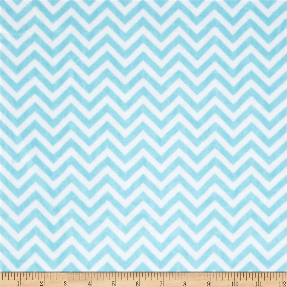 Minky Cuddle Mini Chevron Topaz/Snow