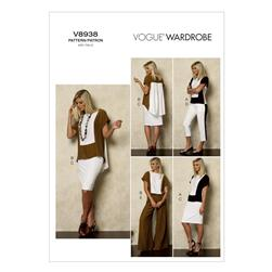 Vogue Misses' Top, Skirt and Pants Pattern V8938 Size A50