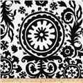 Premier Prints Suzani White/Black