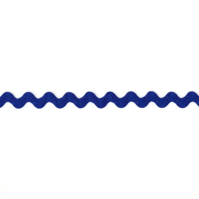 "1/4"" Ric Rac Rayon Baby Trim Royal Blue"