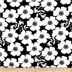 Camelot Jackie Big Floral White/Black