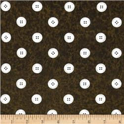 Letter Stitch Buttons Black