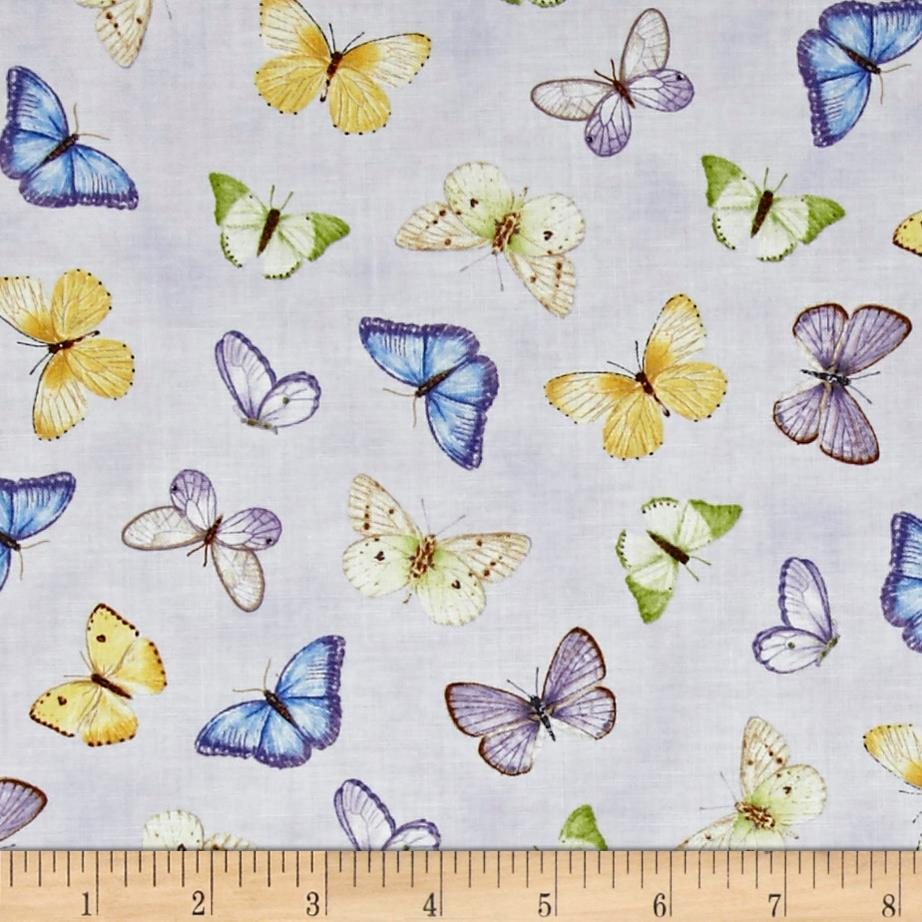 Pretty As A Pansy Tossed Butterflies Light Purple