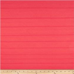 Polyester Stretch Double Knit Texture Stripe Solid Watermelon
