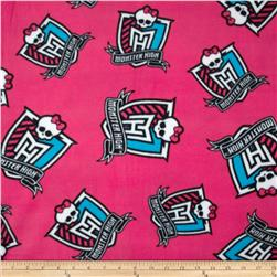 Monster High Fleece Crest Monster Pink