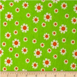Stretch ITY Knit Daisy Lime Orange