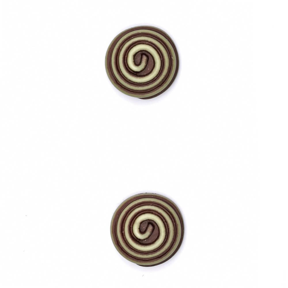 "Fashion Button 5/8"" Swirled Stone"
