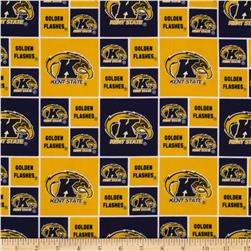 Collegiate Cotton Broadcloth Kent State University Yellow/Navy