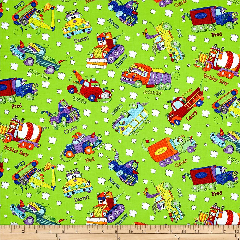 Travel transportation quilting fabric shop online at for Monster themed fabric