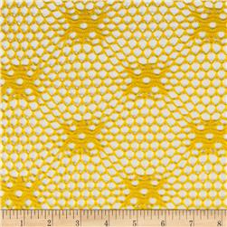 Geometric Crochet Lace Diamond Yellow