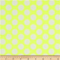 Neon & On Polka Dot Neon Yellow Fabric