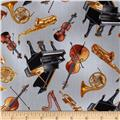 Kanvas Concerto Tossed Instruments Grey