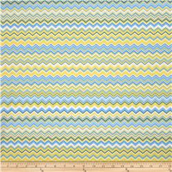 A.E. Nathan Chevron Yellow/Aqua/Royal