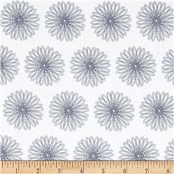 Moonflower Spiral Floral White/Grey