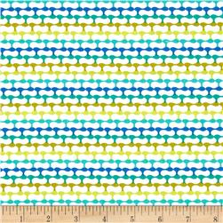 Crazy Daisy Link Blue/Multi Fabric