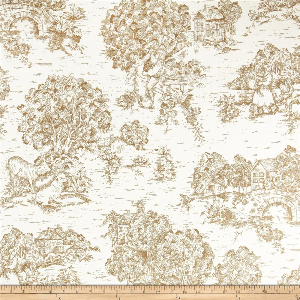 Pastoral Toile Ivory Brown