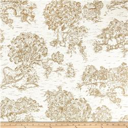 Pastoral Toile Ivory/Brown