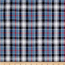 Madras Small Plaid Denim/Navy/Red