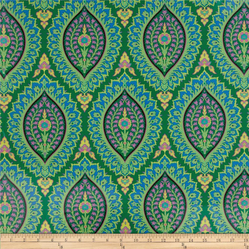 Amy Butler Alchemy Laminated Cotton Imperial Paisley Emerald