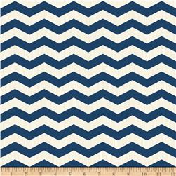 Riley Blake Trendsetter Chevron Navy Fabric