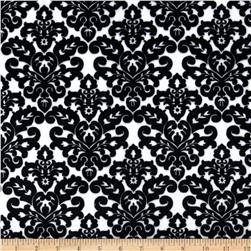 Minky Cuddle Classic Damask Snow/Black Fabric