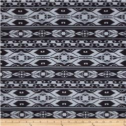 Chiffon Geometric Aztec Black/Ash Grey