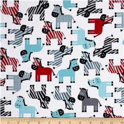 Urban Zoologie Zebras Celebration Fabric