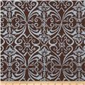 Shimmer Metallic Damask Earth