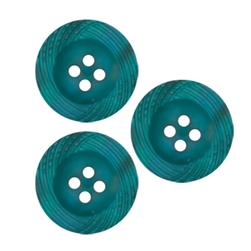 Fashion Button 3/4'' Candace Turquoise