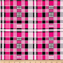 Kanvas Luv Plaid Hearts Pink