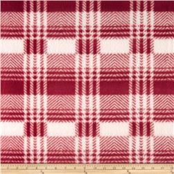 Fleece Print Plaid Red/White