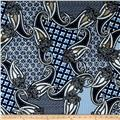 Alanna Resort Stretch ITY Knit Paisley Prints Blue/Navy/White