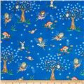 Timeless Treasures Starry Night Forest Tossed Fairy Scenic Royal