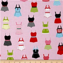 Riley Blake Designer Novelty Swimsuits Pink