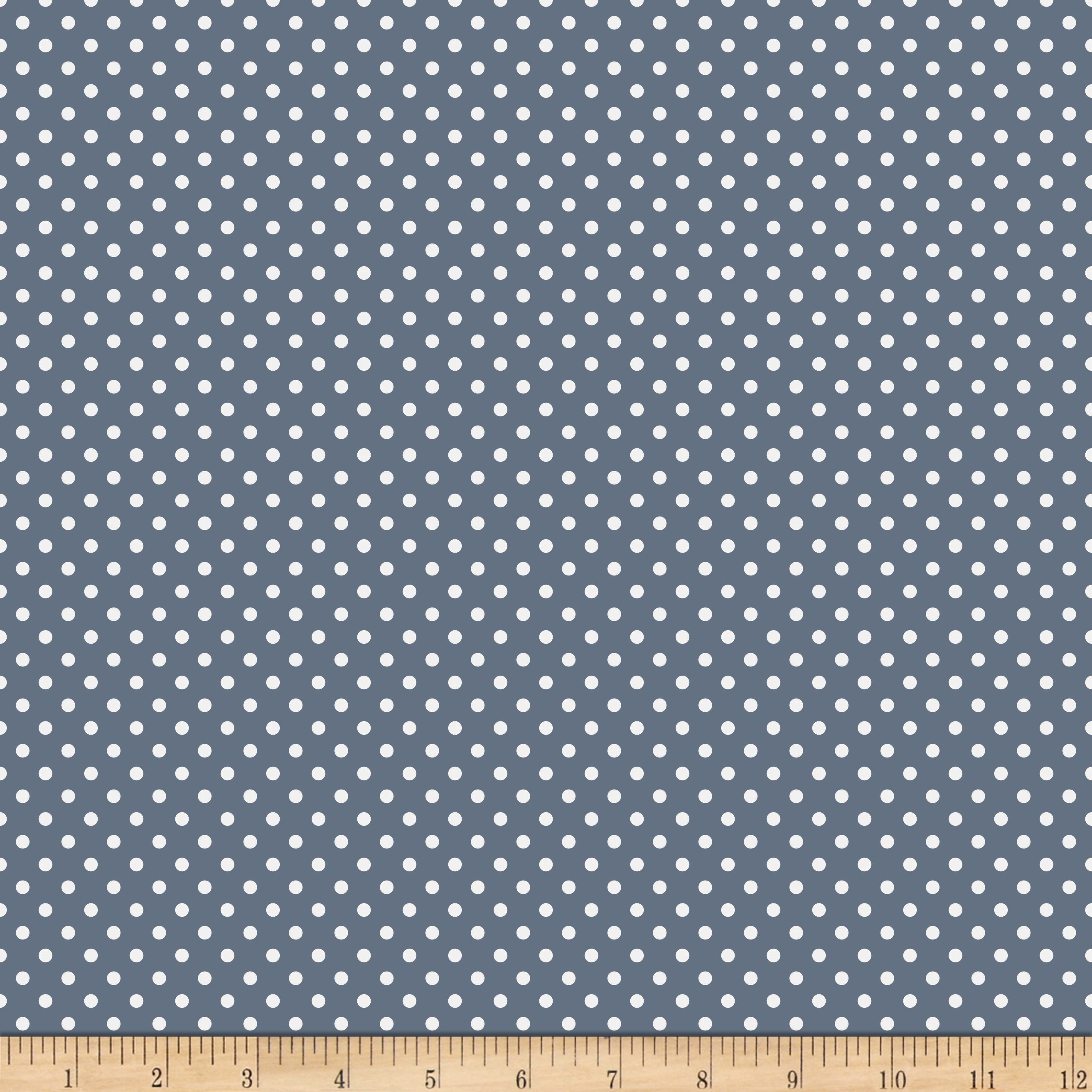 Riley Blake A Beautiful Thing Dot Navy Fabric