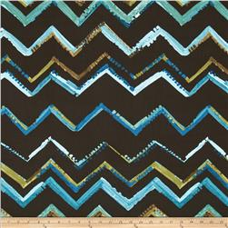 Contempo Hand Made Zig Zag Turquoise