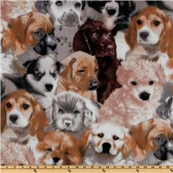WinterFleece Puppies Fleece Multi Fabric