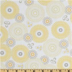 Riley Blake Willow Organic Large Medallion Yellow