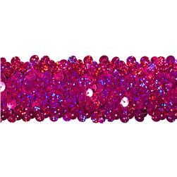 Team Spirit #68 Sequin Trim Fuchsia Spot