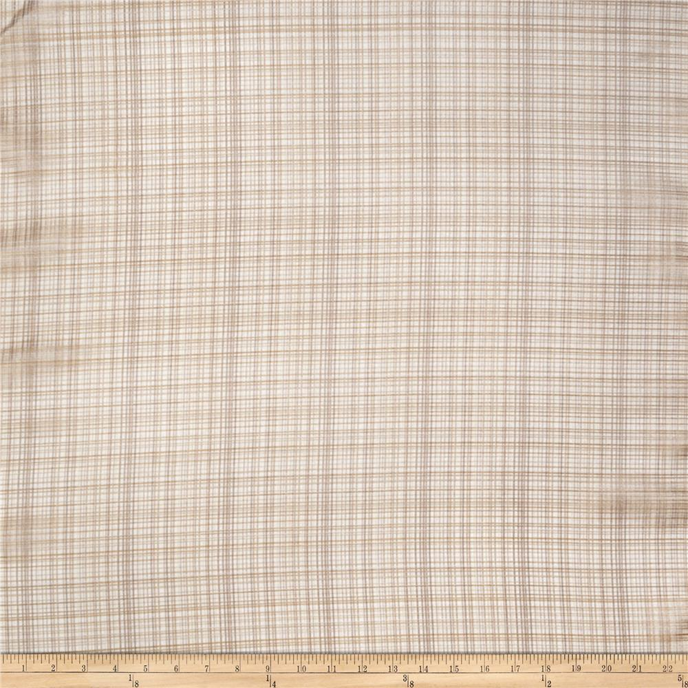 "Fabricut Shockley 118"" Faux Linen Sheer Parchment"