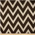 48'' Chevron Burlap Ivory/Brown