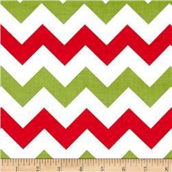 "Riley Blake 58"" Manufactures Cut Medium Chevron Medium Christmas"