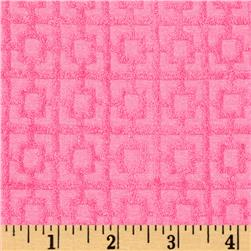 Stretch Cotton Blend Terry Cloth Hot Pink