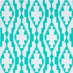 ITY Printed Abstract Shamrock Aqua