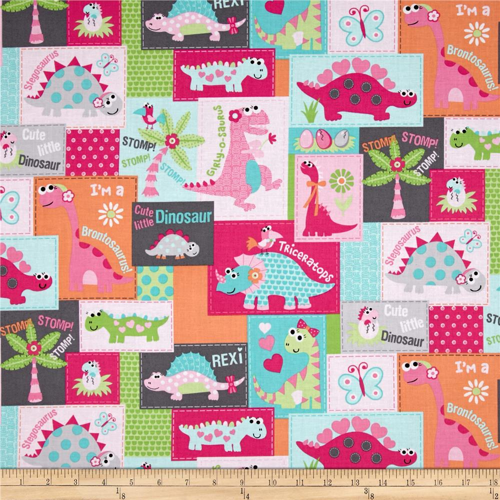 girly o saurus dino blocks multi discount designer
