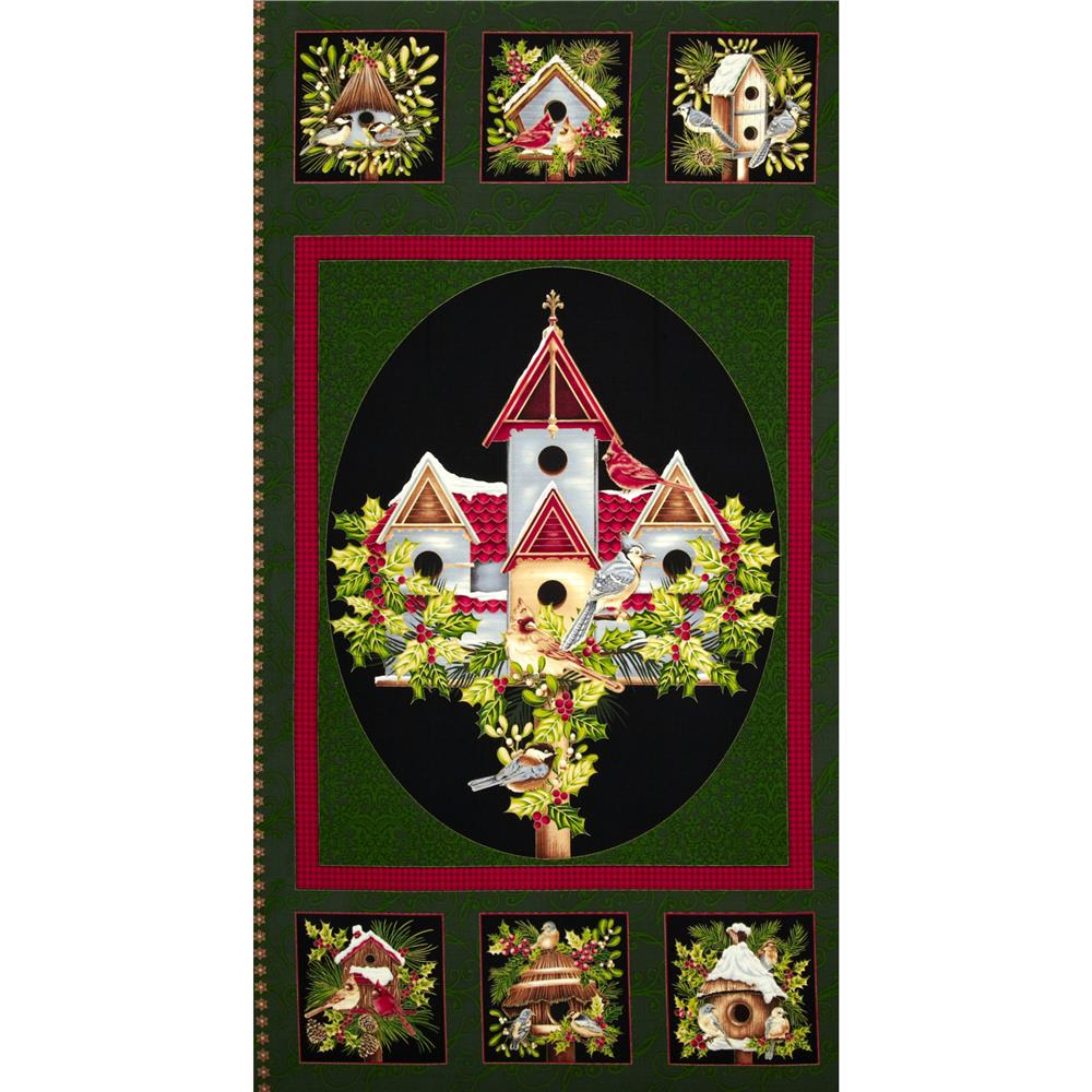 Winter Sanctuary Banner Panel Green