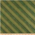 All Wrapped Up Metallic Diagonal Stripe Gold/Green
